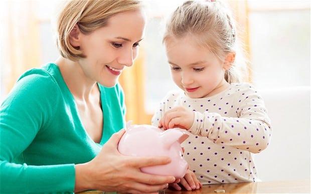 Kaip vaikus mokinti taupyti