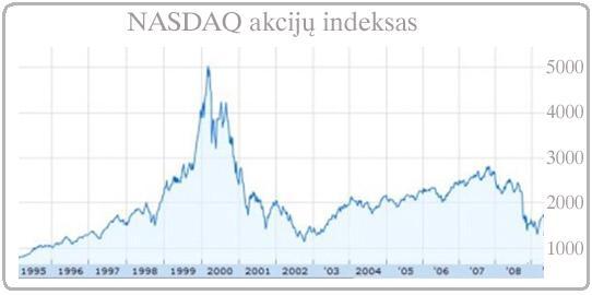 dot com dot.com akcijų brubulas JAV
