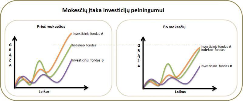 Mokesčių įtaka aktyvios ir pasyvios investavimo startegijos pelningumui
