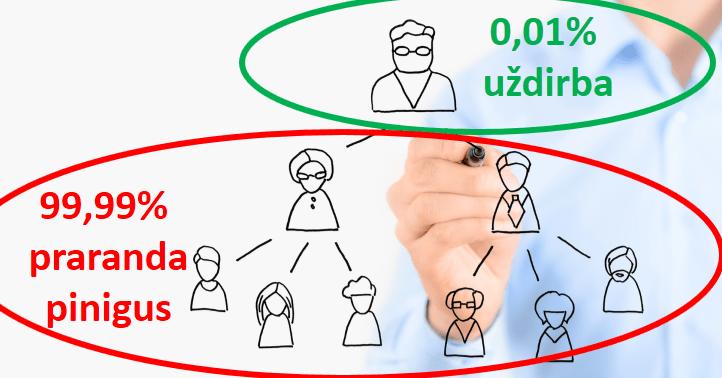Tinklinis marketingas ir tinklinė rinkodara: tikimybė uždirbti