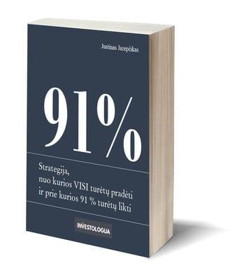 Strategija, nuo kurios visi turėtų pradėti ir prie kurios 91 % turėtų likti
